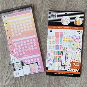 Happy Planner Sticker Book and Habit Tracker Paper
